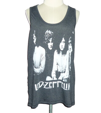 top tank top cute tank tops punk rock grey tank top led zeppelin rock vintage