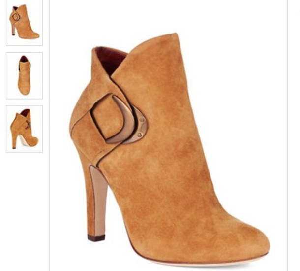 boots winter boots autumn/winter chic suede leather zip girly fashion style elegant warm weather