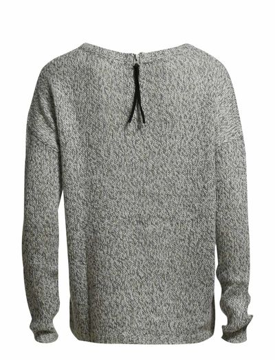 Vero Moda Tango Surprise Ls Zipper Blouse (Light Grey Melange) - Køb og shop online hos Boozt.com