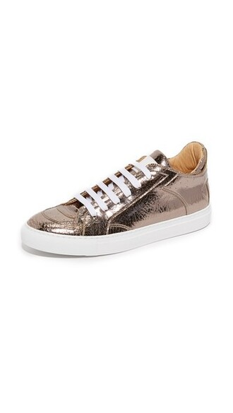 sneakers low top sneakers bronze shoes