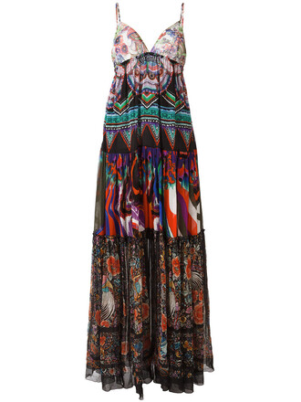 dress long dress long women cotton print silk