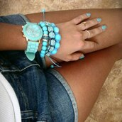 jewels,mint,watch,sunglasses