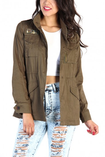 LoveMelrose.com From Harry & Molly | UTILITY ARMY JACKET