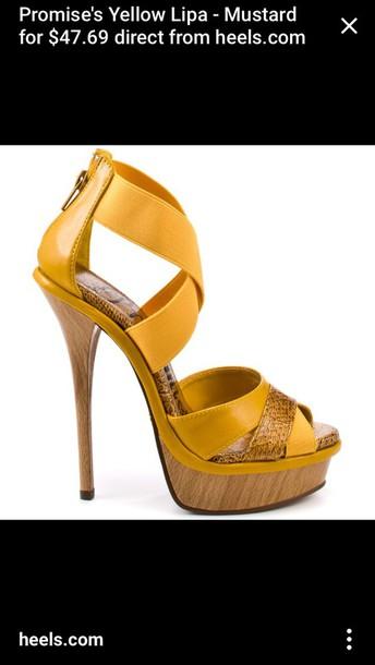 shoes mustard high heel sandals sandals