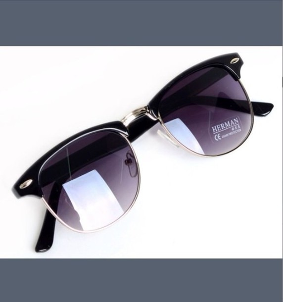sunglasses dark purple lenses clubmasters