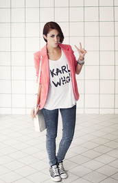 jacket,blazer,peach,pink,persunmall,clothes