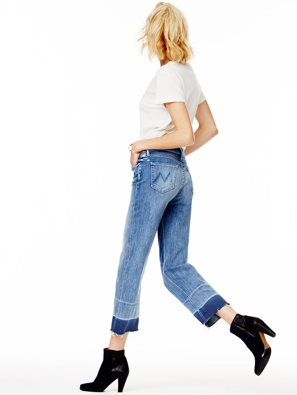 jeans frayed denim straight jeans