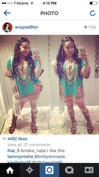 blouse dashiki dress african print shirt multicolor shoes