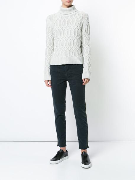 Nili Lotan jumper women wool knit grey sweater