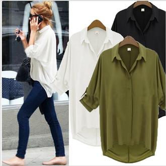 blouse women blouse fashion blouse solid color