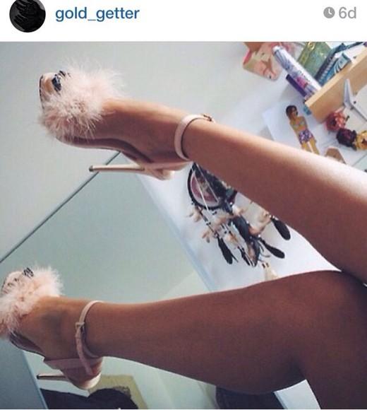 fur fur shoes stilettos