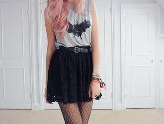 skirt black skirt lace skirt lace shirt