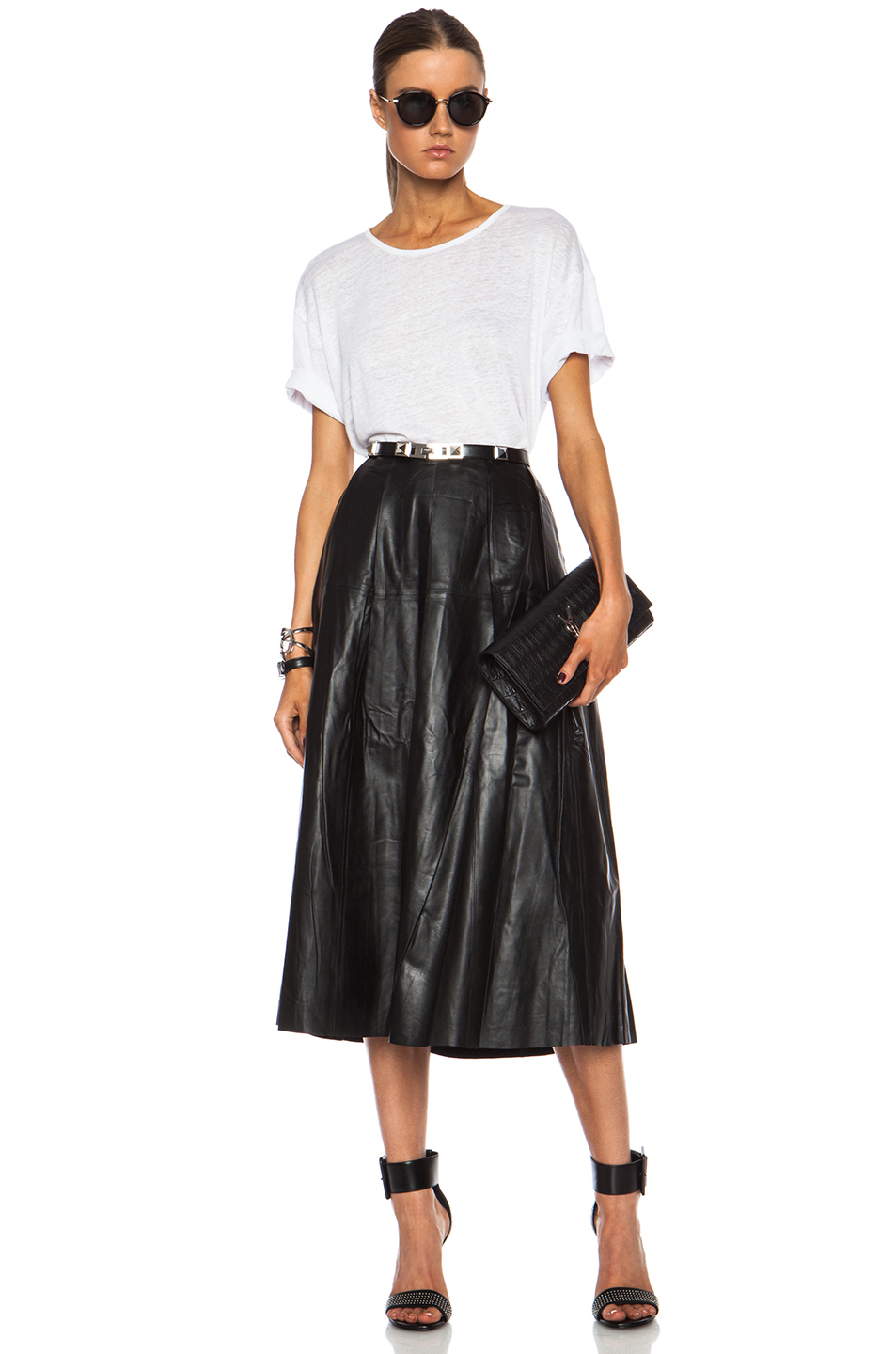 Leather skirt 26 in black