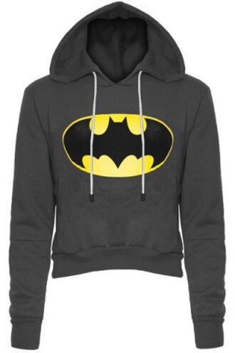 sweater batman fashion grey warm cozy trendy superheroes hoodie long sleeves yellow teenagers stylish