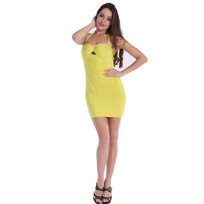 Bqueen yellow corset dress h042y