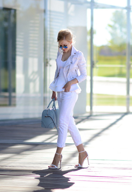oh my vogue top jacket jeans shoes bag sunglasses jewels