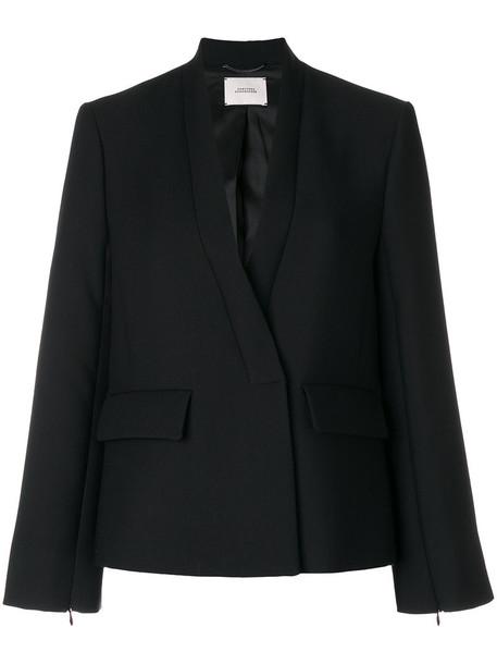 Dorothee Schumacher blazer women spandex black wool jacket