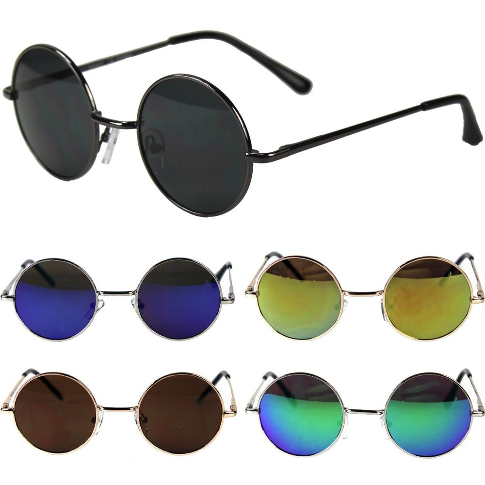 John Lennon Sunglasses Round Hippies Shades Revo Retro Vintage 60s 70s Small New