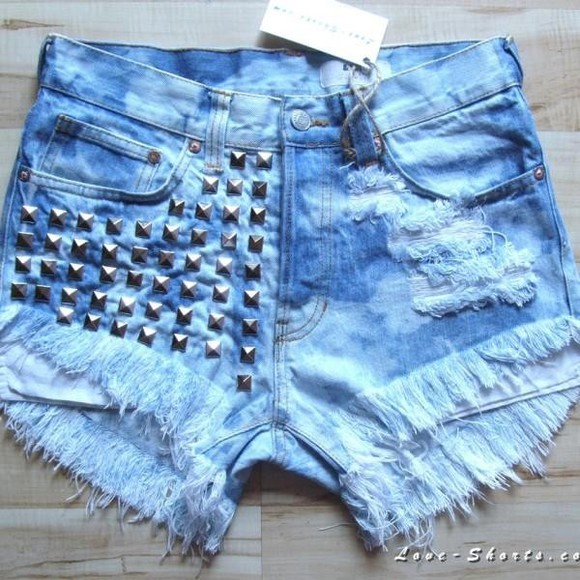 shorts acid wash jeans studded shorts levi summer light blue vintage ripped shorts summe