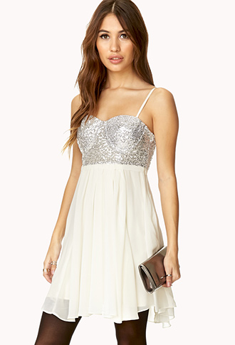 Darling Sequined Combo Dress | FOREVER21 - 2000066269
