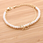 jewels,jewelry,ribbon,bracelets,ribbon bracelet,pearl,pearl bracelet,lovely