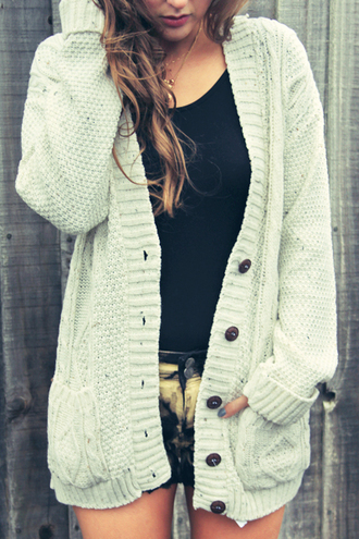 sweater cable knit knitwear cardigan cable knit shorts