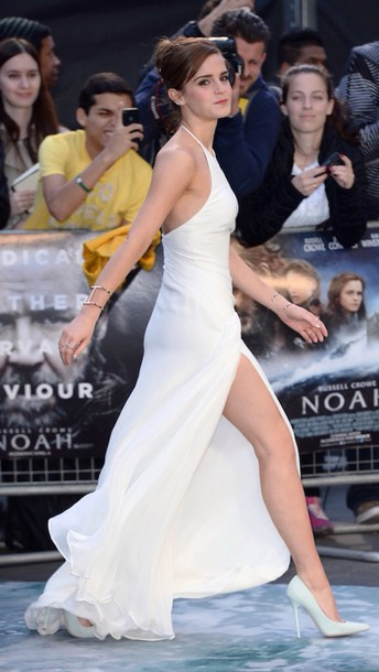 dress emma watson white dress gown shoes