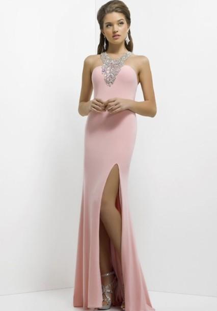 Dress dream prom ️ pink dress baby pink prom dress