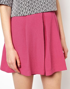 Asos mini skirt in texture with folds at asos