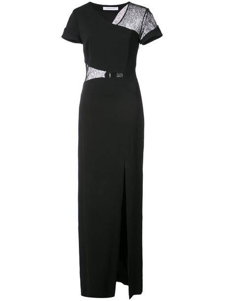 Kimora Lee Simmons gown women spandex lace black dress