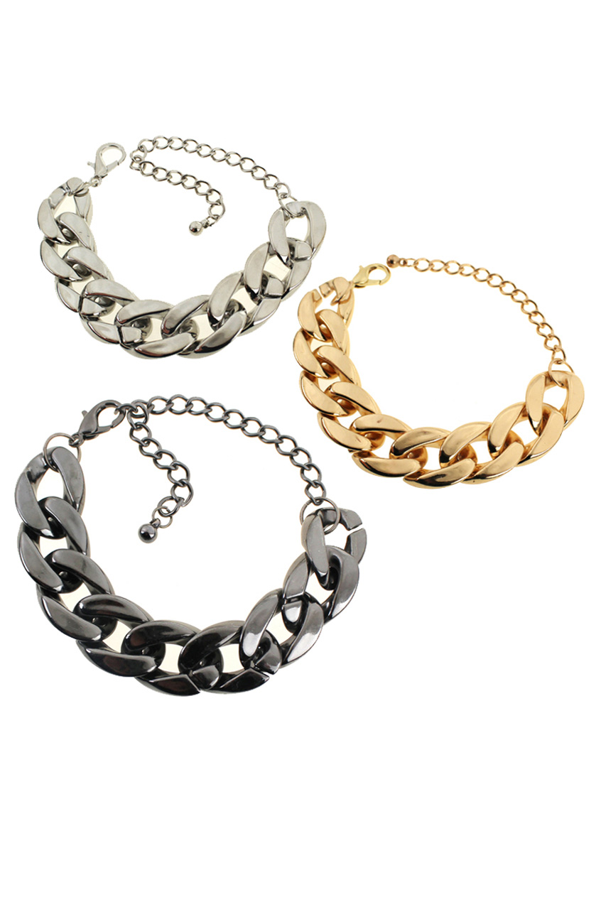 ROMWE | Chunky Chained Bracelet, The Latest Street Fashion
