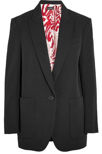 blazer black wool jacket