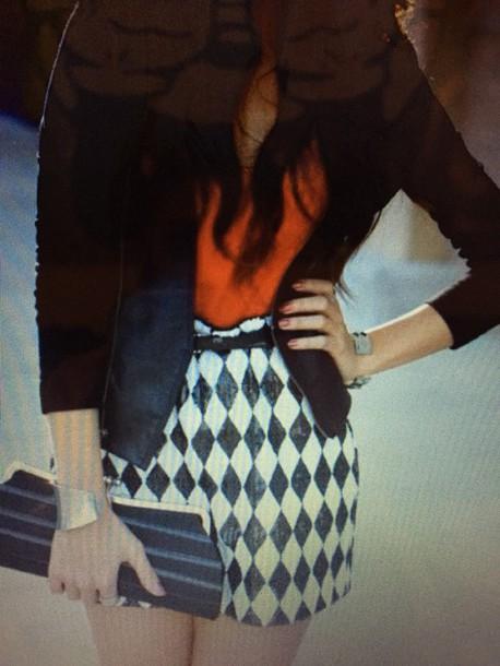skirt black and white sequin skirt