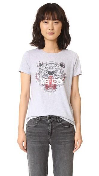 t-shirt shirt tiger grey top
