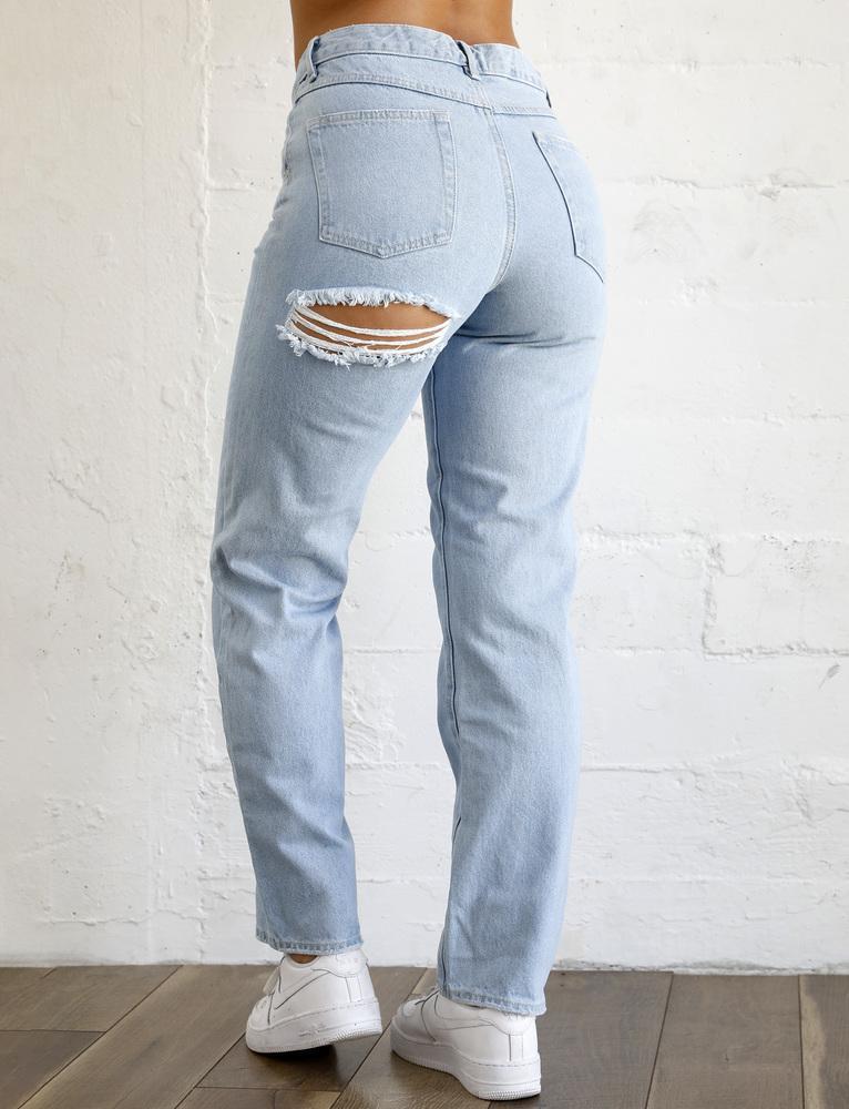 Farell Straight Leg Jean - Blue - S BLUE