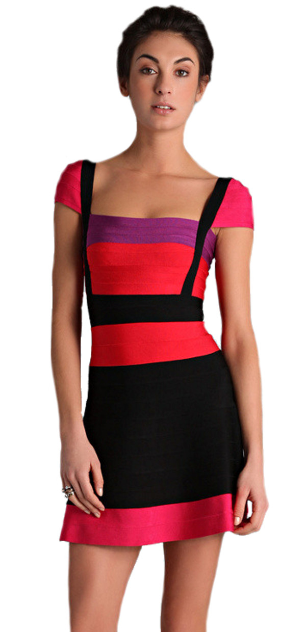 Colorblock Dresses with Sleeves