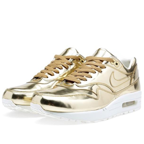 shoes, gold, gold nike airs airmax air