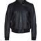 Sunburst-embellished leather biker jacket