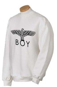 Boy london style sweatshirt jumper eagle print (white, large): amazon.co.uk: garden & outdoors