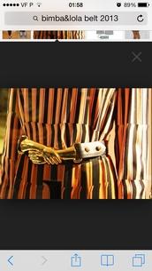 belt,bimba & lola leather belt