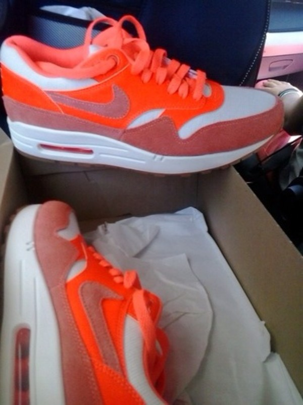 shoes air max nike orange