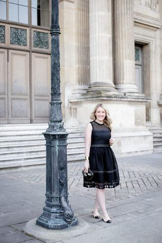 wit&whimsy blogger dress shoes bag clutch black dress spring outfits summer dress mesh dress
