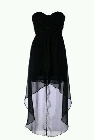 mixi hi lo dress high low strapless classy sheer