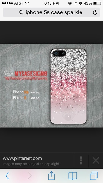 sparkles pink phone case ombre