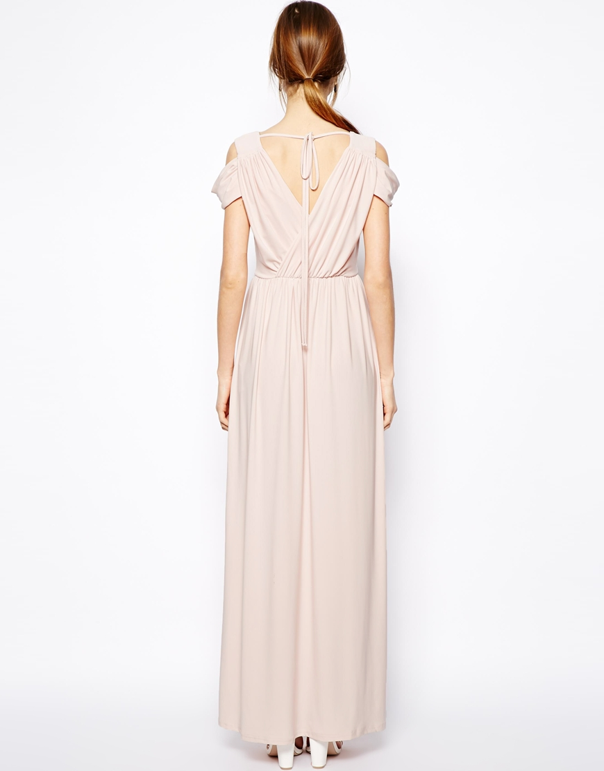 ASOS PETITE Wrap Front Maxi Dress at asos.com