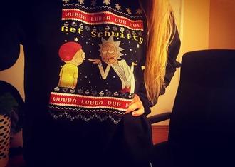 sweater tacky christmas sweater cartoon funny