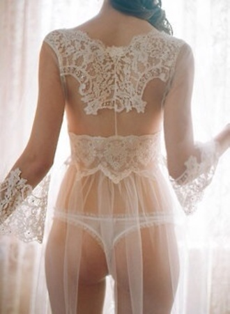 underwear white wedding lingerie lace kimono top white lingerie lace lingerie sexy lingerie dress bridal lingerie