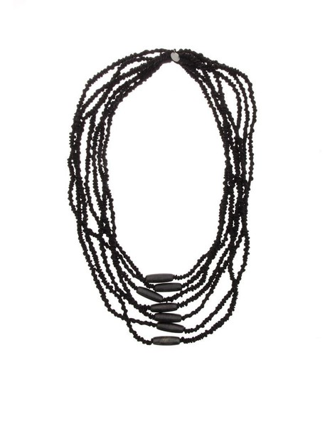 Maria Calderara necklace black jewels