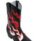 50mm flames leather cowboy boots