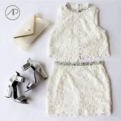 top,crop tops,skirt,bag,shoes,dress,holographic shoes,holographic,lace dress,lace top,lace skirt,beige,beige bag,diamond dress,diamonds,belt